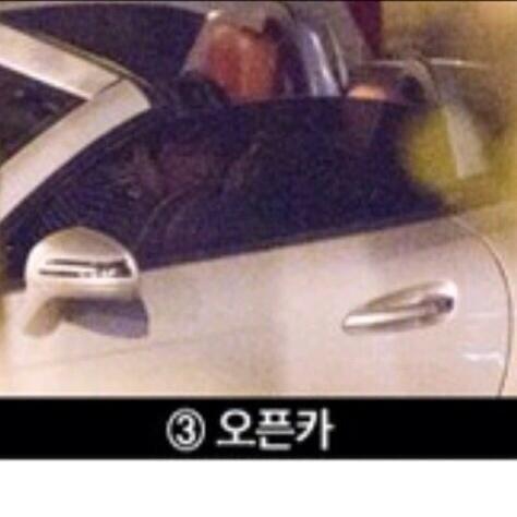 CAUGHT: Taeyeon and Baekhyun were caught kissing late at night.
