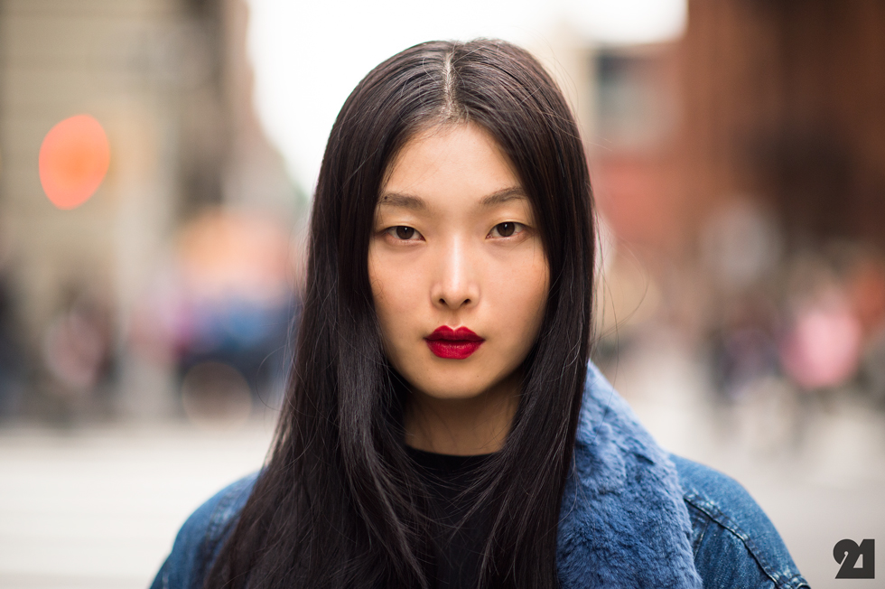Model Kim Sung-hee became the first Asian model for luxury brand Prada. Picture: Le 21 Emme