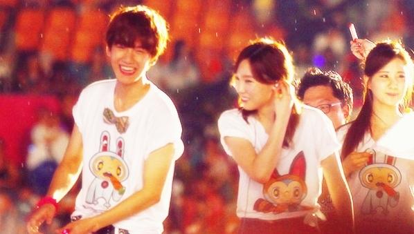Baekhyun and Taeyeon. Picture: KpopStarz