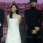 Kris at Somewhere Only We Know press conference