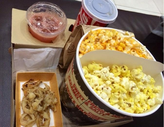 CGV Popcorn in two flavors Picture: Naver Blog juon9137