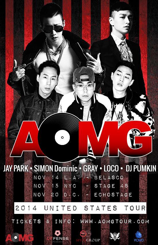 Jay park_aomg tour 2014