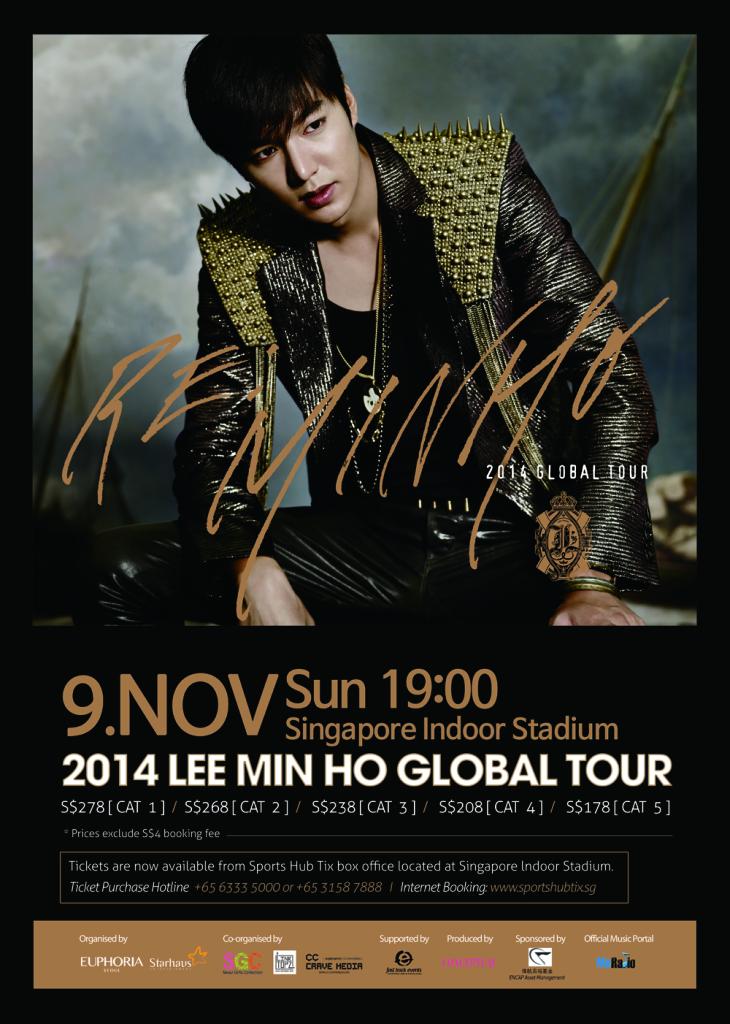 K-Drama Prince, Lee Min Ho, to Arrive in Singapore