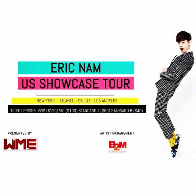 Eric Nam US TOUR Flyer