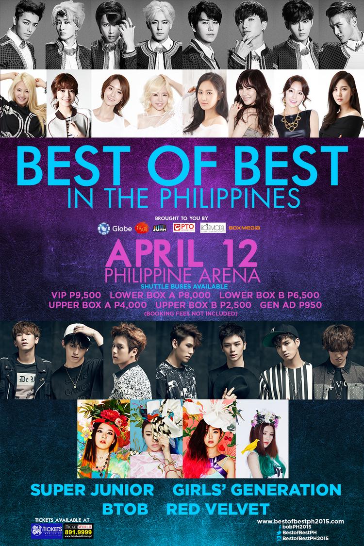 BTOB, Red Velvet, Super Junior, SNSD to perform for 'Best of Best KPOP Concert' in the Philippines