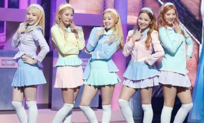 20150329_Red Velvet_ Tops_ SBS's_ Inkigayo_ with_ 'Ice Cream Cake'