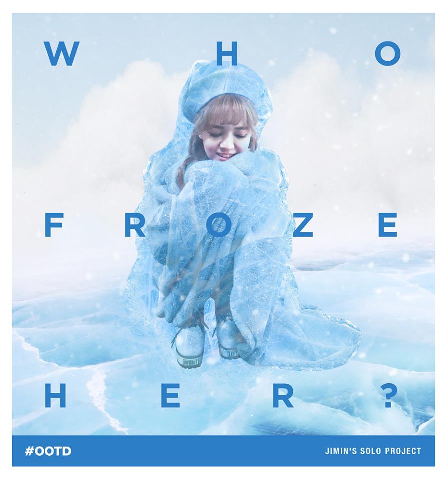 Who froze AOA's adorable leader? Image Credit: AOA's Official Facebook page