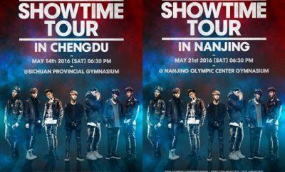 iKON,Asia tour,iKONCERT 2016 SHOWTIME TOUR IN NANJING, iKONCERT 2016 SHOWTIME TOUR IN CHENGDU,