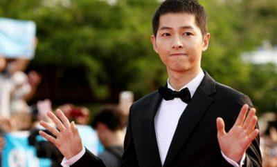 song joong ki, seoul international drama awards, short hair