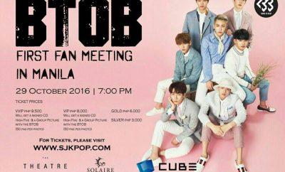 btob first fan meeting in manila poster