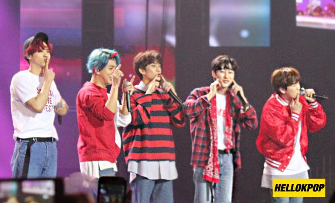 one k global peace concert b1a4 aegyo