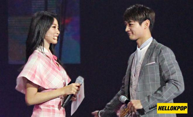 one k global peace concert MCs Minho and Seolhyun