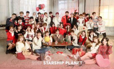 Starship Entertainment, Christmas Day, Soyou, K.Will, Jeong Se-woon, Monsta X, Boyfriend, WJSN