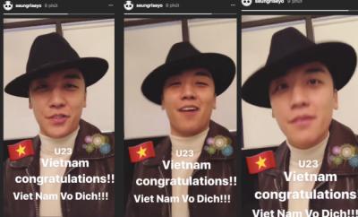 BIGBANG, Seungri, U23 Vietnam
