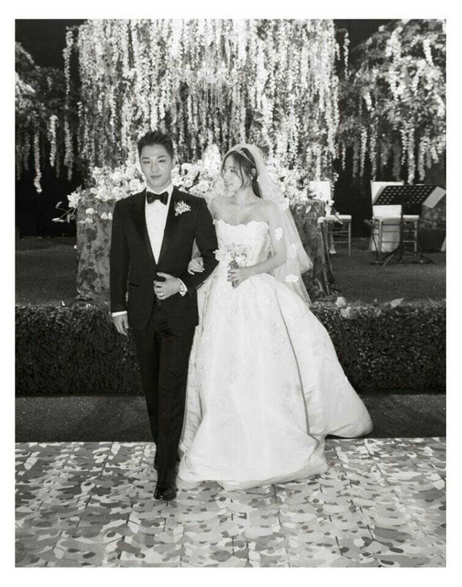 Taeyang and Min Hyo Rin wedding