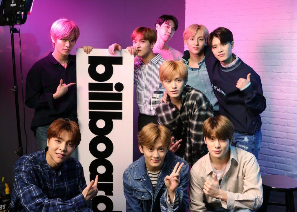 nct billboard emerging artist chart first kpop act