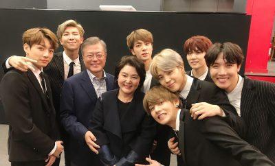 bts korea-france friendship concert south korea president moon jae in