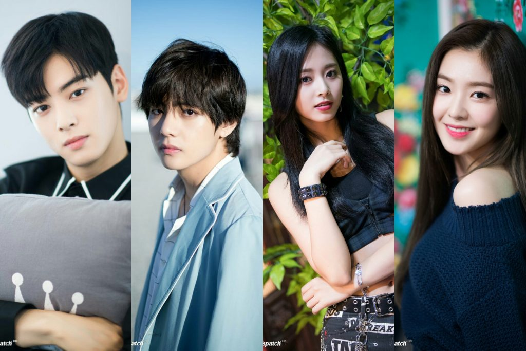 Idols Vote Astro S Cha Eun Woo Bts V Twice S Tzuyu Red Velvet S Irene And More As K Pop S Ultimate Face Geniuses