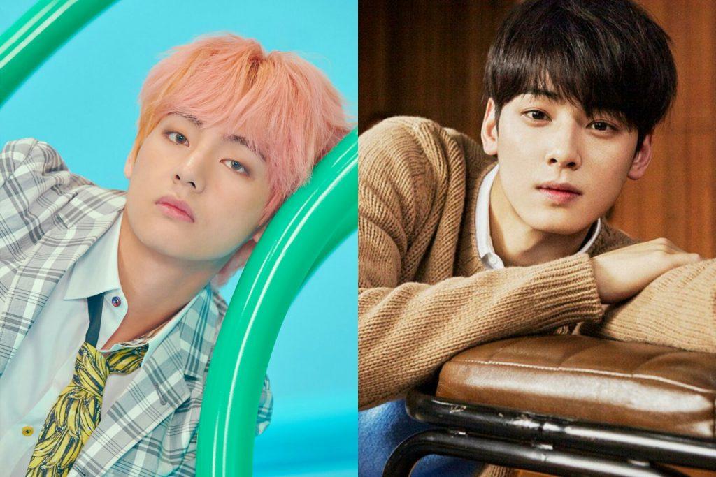 Idols Vote Astro S Cha Eun Woo Bts V Twice S Tzuyu Red