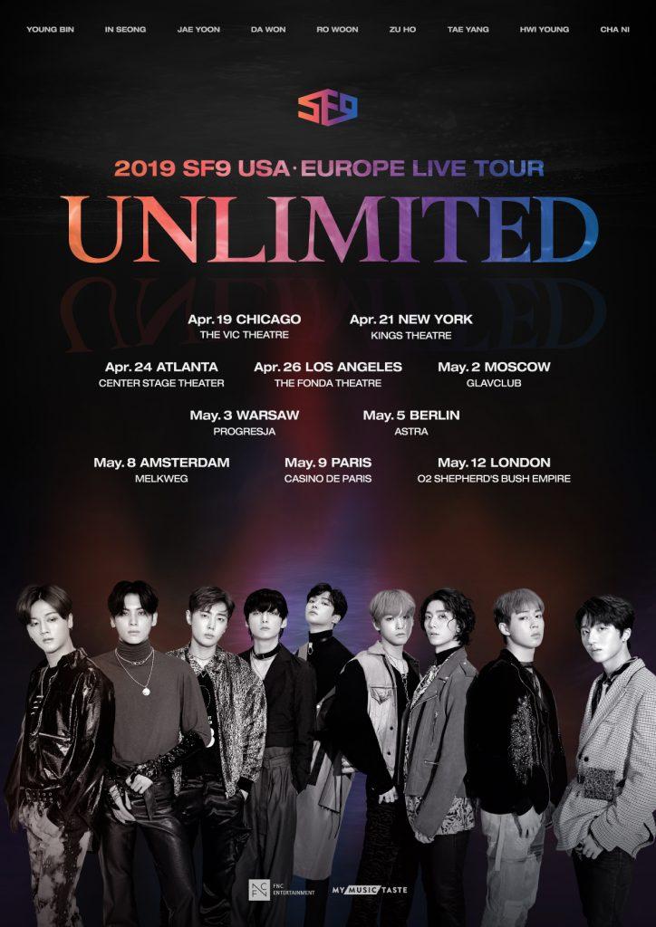 SF9 Tour Dates