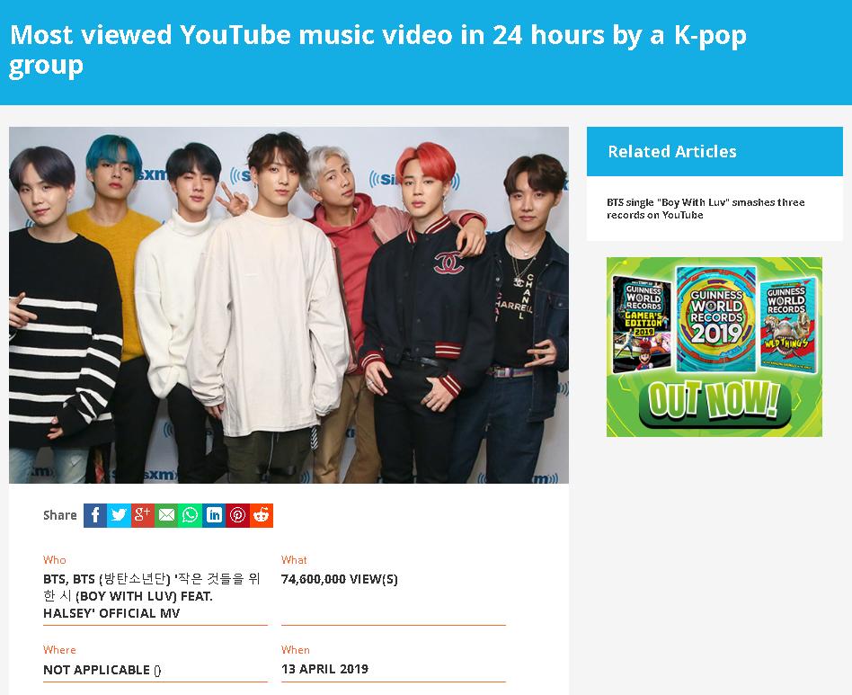BTS Most Viewed K-Pop Music Video