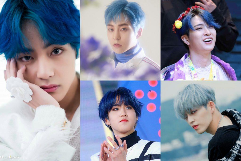 Idol List 10 Male K Pop Idols Who Looked Brilliant In Blue Hair