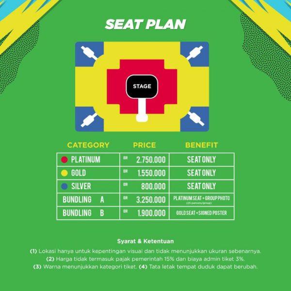 Running Man Live In Jakarta Seat Plan