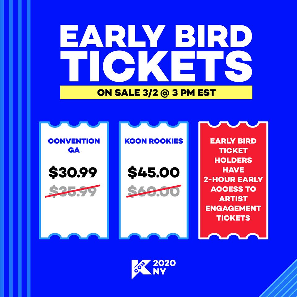 KCON USA Early Bird Tickets