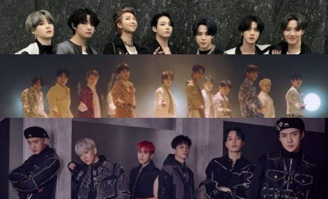 Top K Pop Boy Groups In April 2020 Brand Rankings Bts Seventeen