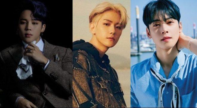 Bts Jimin Exo S Baekhyun Astro S Cha Eun Woo Named As Leading K Pop Boy Group Members In May
