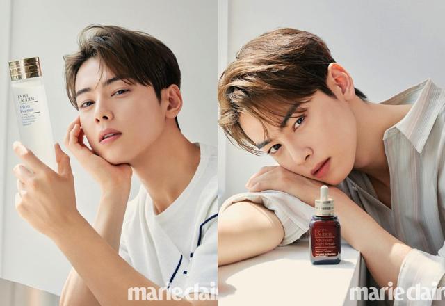 Cha Eun Woo x Estee Lauder x Marie Claire