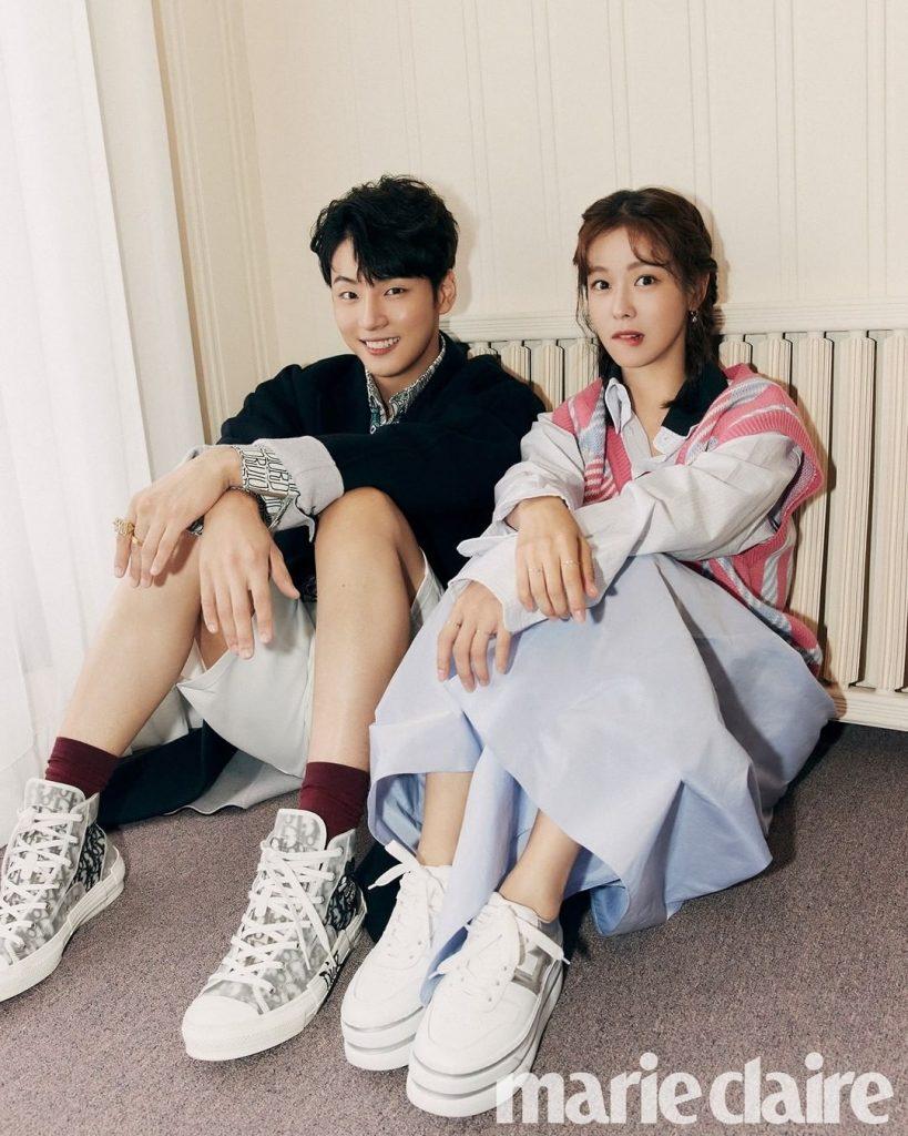 Yoon Shi Yoon x Kyung Soo Jin x Marie Claire