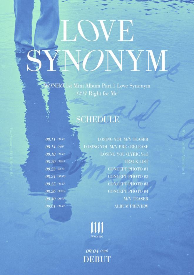 wonho schedule poster