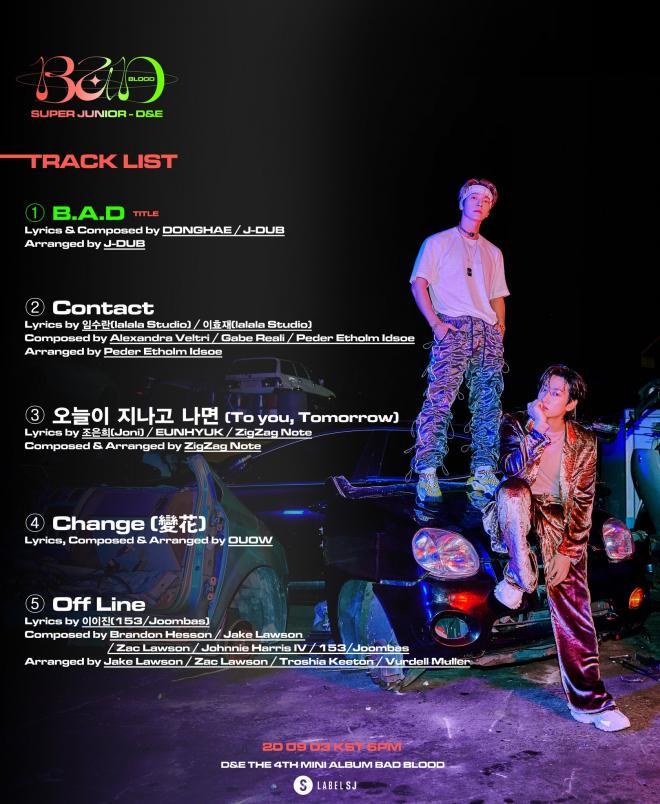 D&E track list
