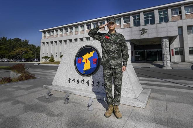 SHINee Minho Returns Last Military Leave