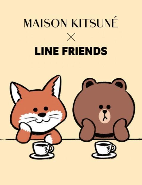 LINE FRIENDS MAISON KITSUNÉ