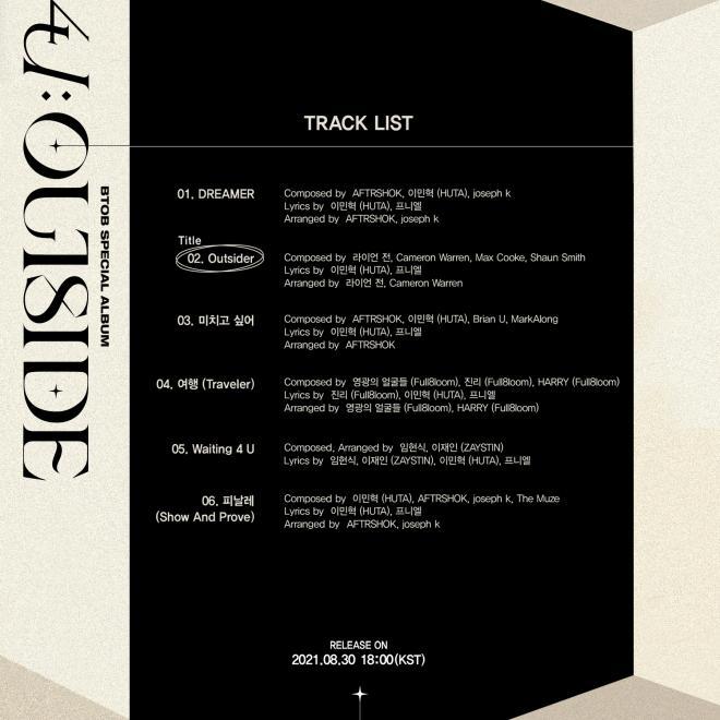 BTOB 4U: OUTSIDE tracklist