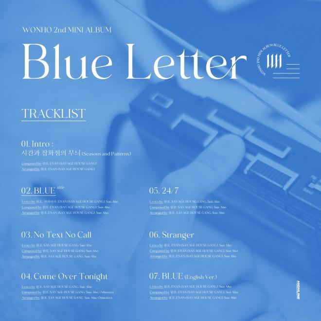 WONHO_Blue_Letter_Tracklist